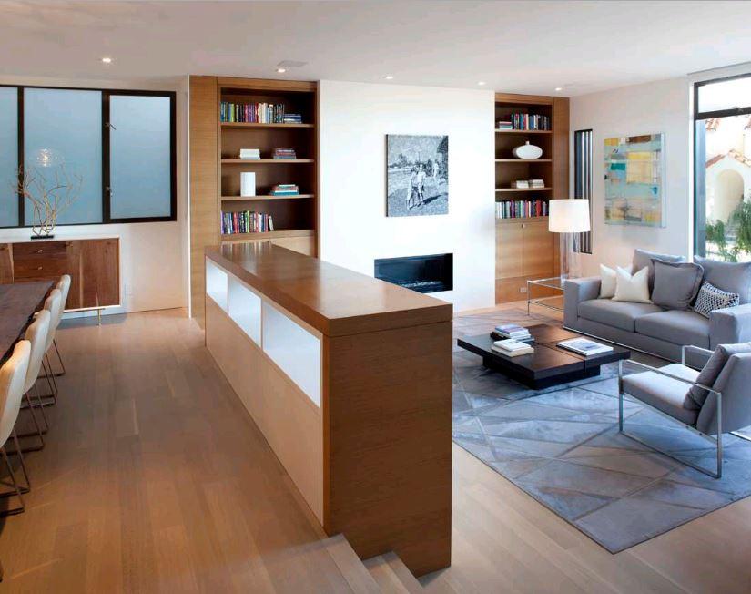 thiết kế không gian mở phòng khách liền bếp tuyệt đẹp