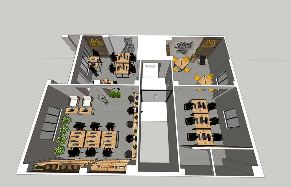 thiết kế 3d nội thất nhà ở của homeoffice