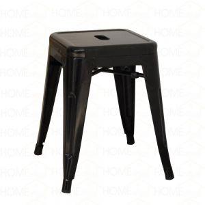 HOGCF124b- Ghế cafe tolix thấp không lưng nhiều màu (màu đen)