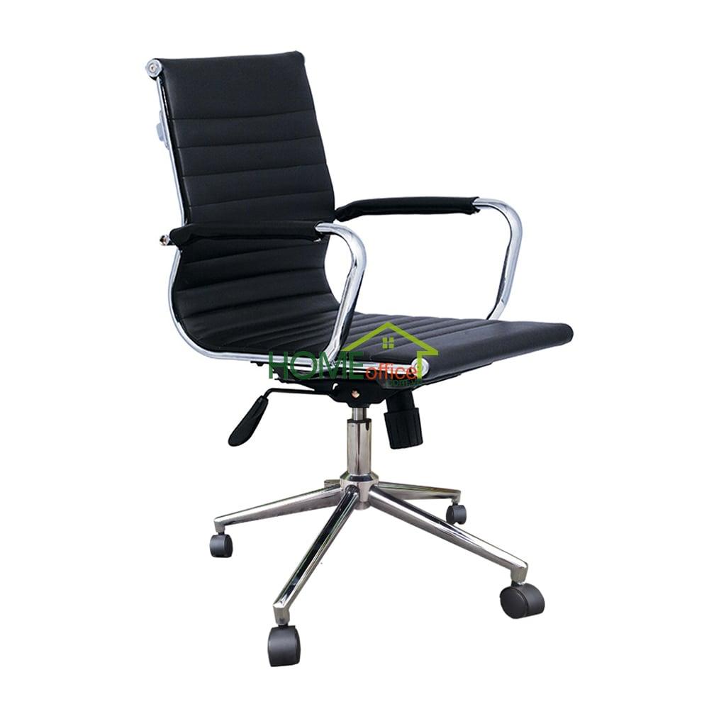 HOHA100 - Ghế xoay văn phòng lưng trung bọc da hiện đại