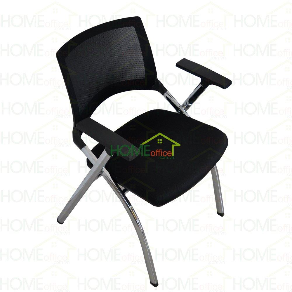HOGX002 - Ghế xếp văn phòng lưng lưới có nệm màu đen