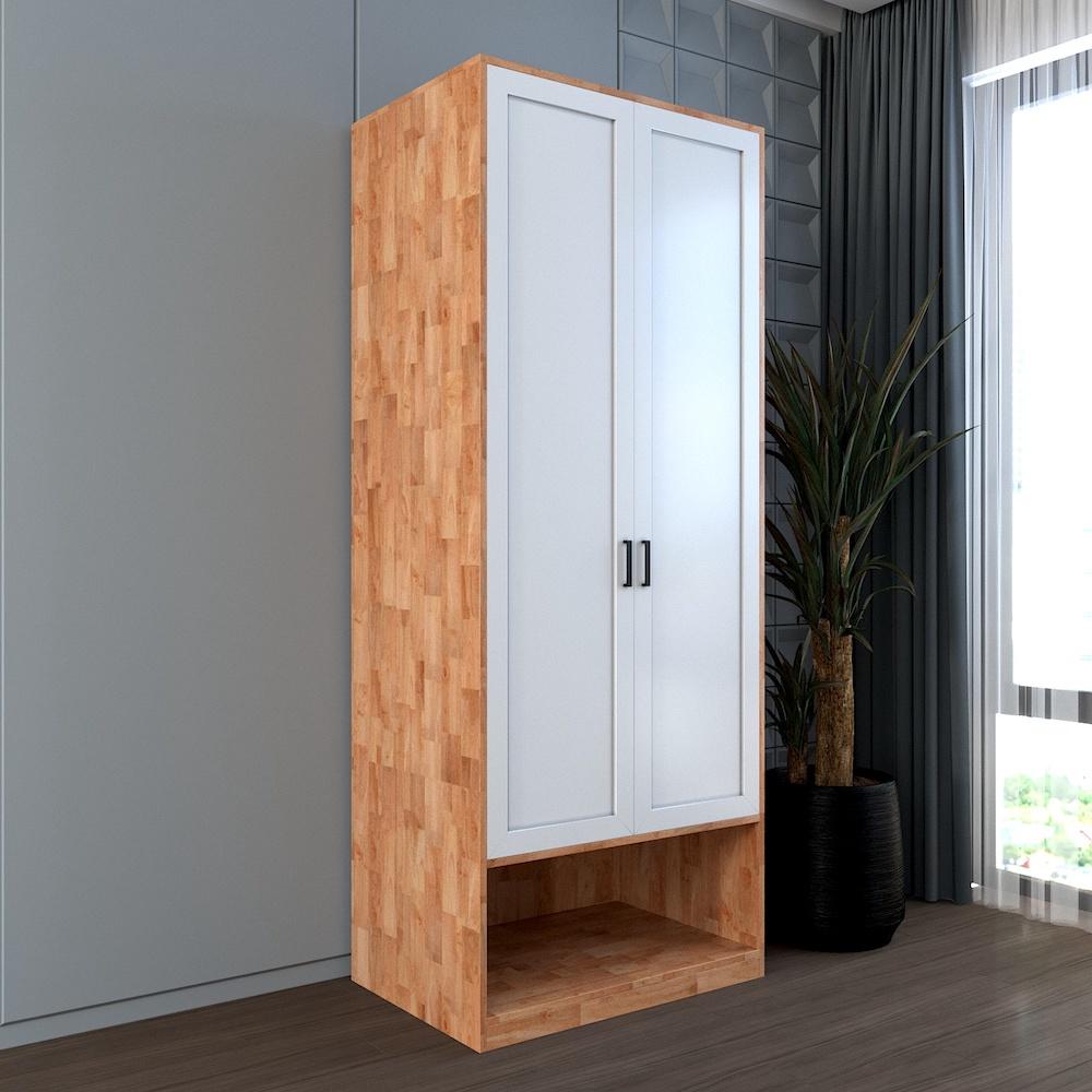 Tủ quần áo hiện đại gỗ tự nhiên màu nâu