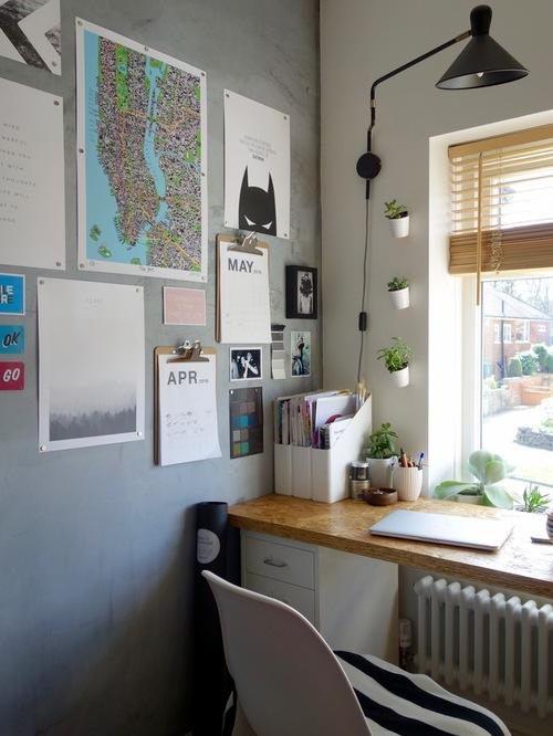 Thiết kế bàn làm việc cho phù hợp và đầy đủ ánh sáng