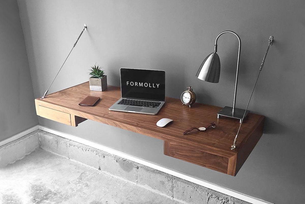 bàn kệ gỗ treo tường