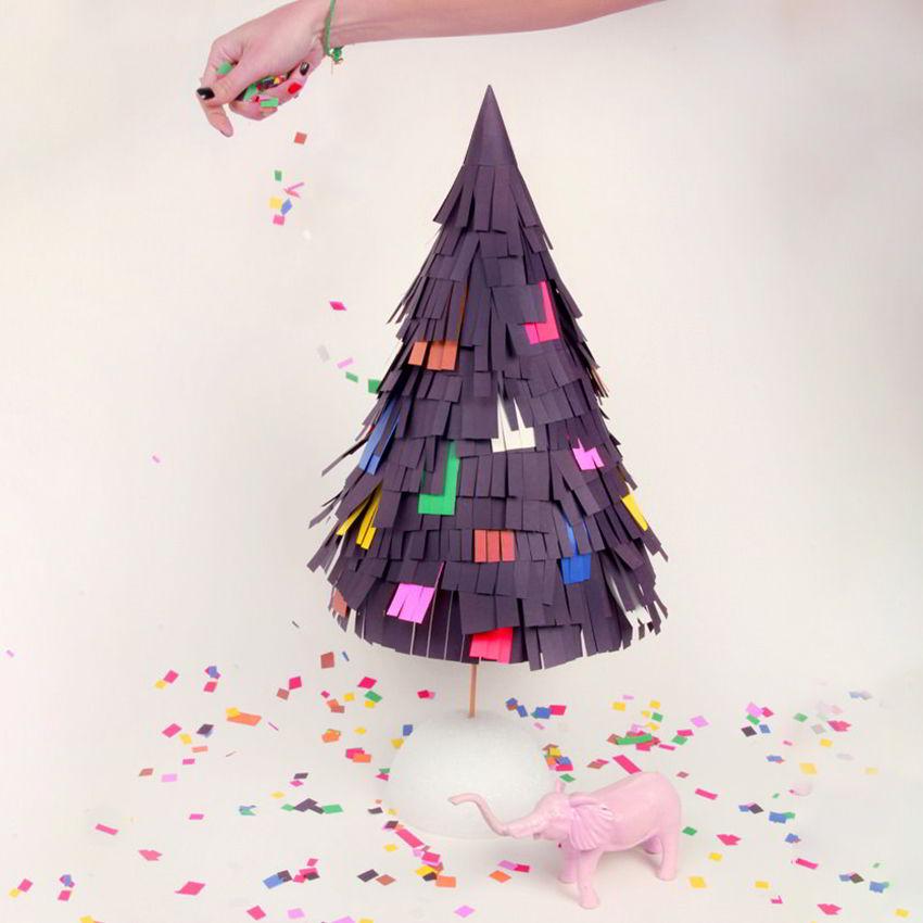 cây thông tự làm bằng giấy