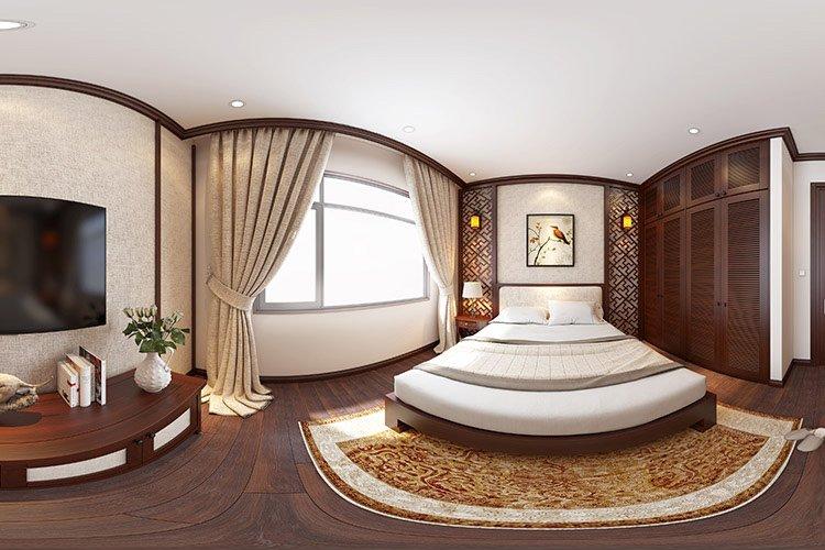 Phòng ngủ phong cách Á Đông