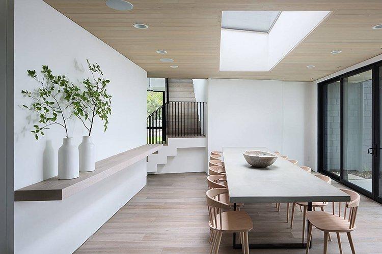 Nhà bếp và phòng ăn tối giản ấn tượng