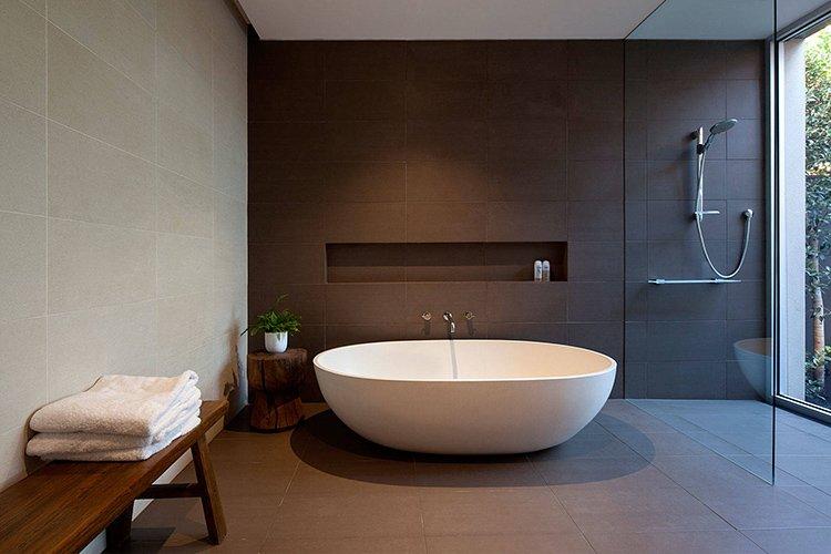 Nhà tắm phong cách tối giản sáng tạo