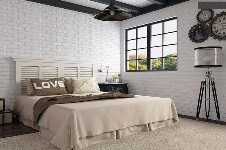 Xốp dán tường trang trí phòng ngủ