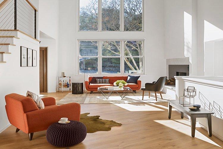 Kết hợp vật liệu với ánh sáng tự nhiên trong nội thất scandinavian