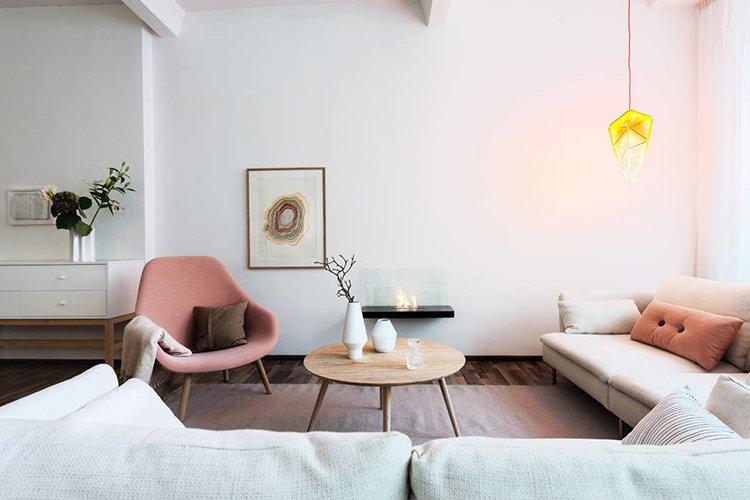 Tường màu trắng được ưu tiên trong phong cách nội thất Scandinavian