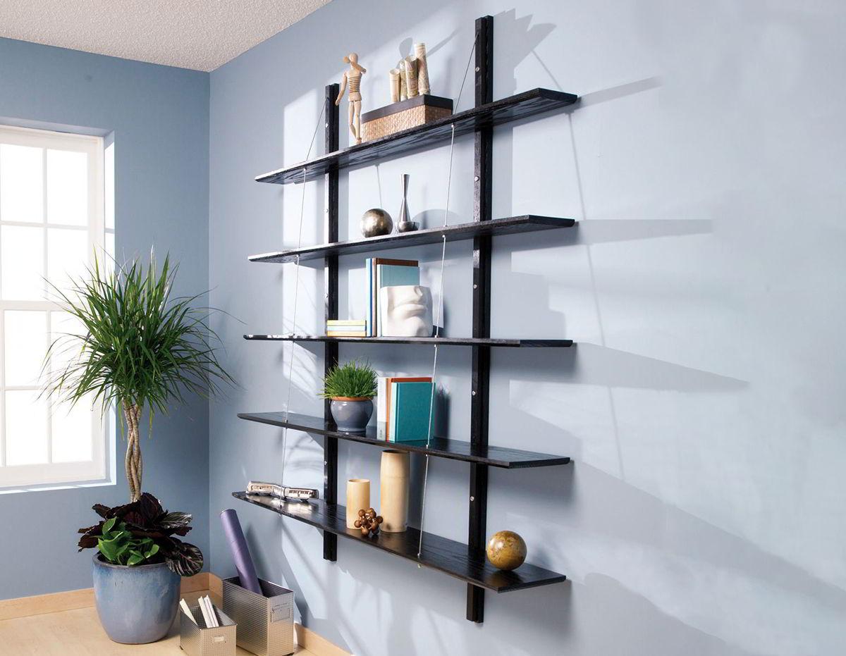 kệ gỗ treo tường trang trí phòng khách