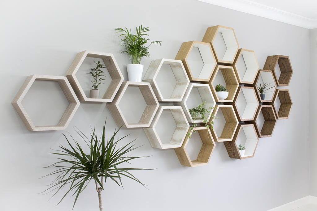 Kệ treo tường gỗ