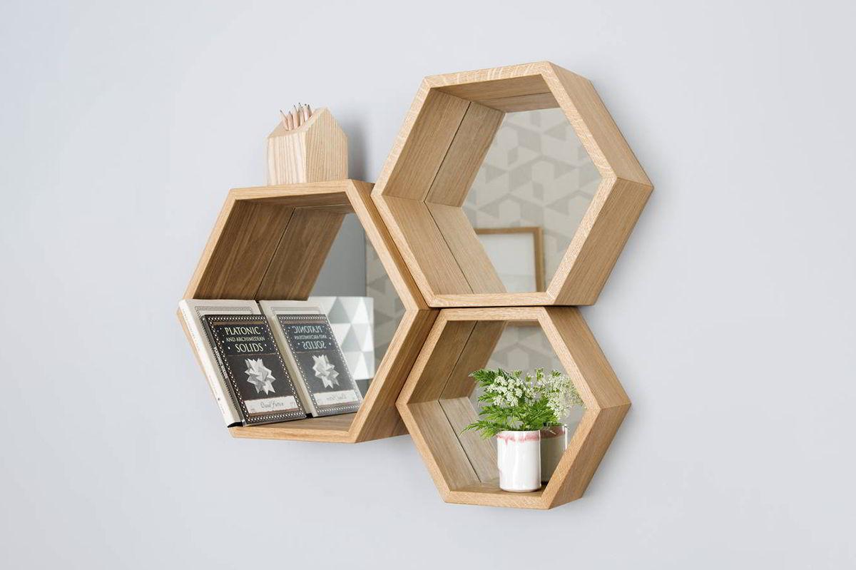 kệ treo tường bằng gỗ