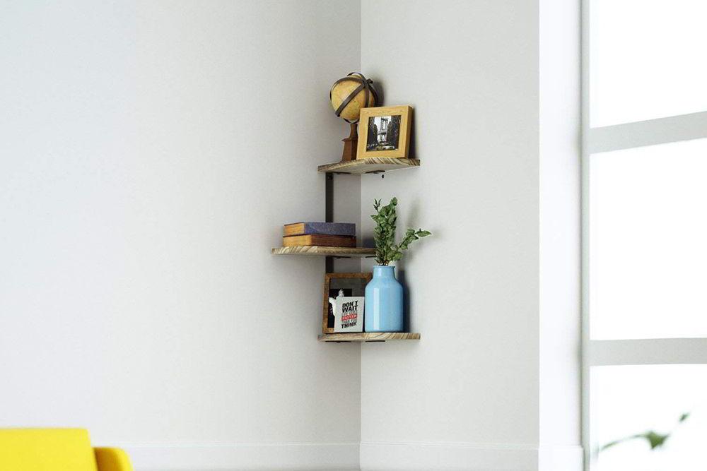 kệ gỗ nhỏ góc tường