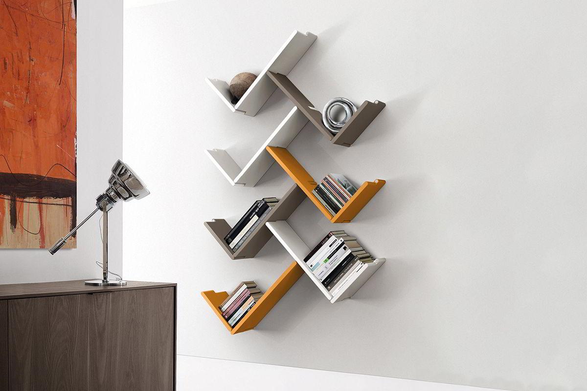 kệ gỗ chữ v treo tường