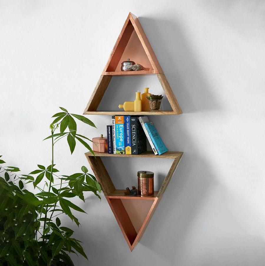 kệ gỗ tam giác