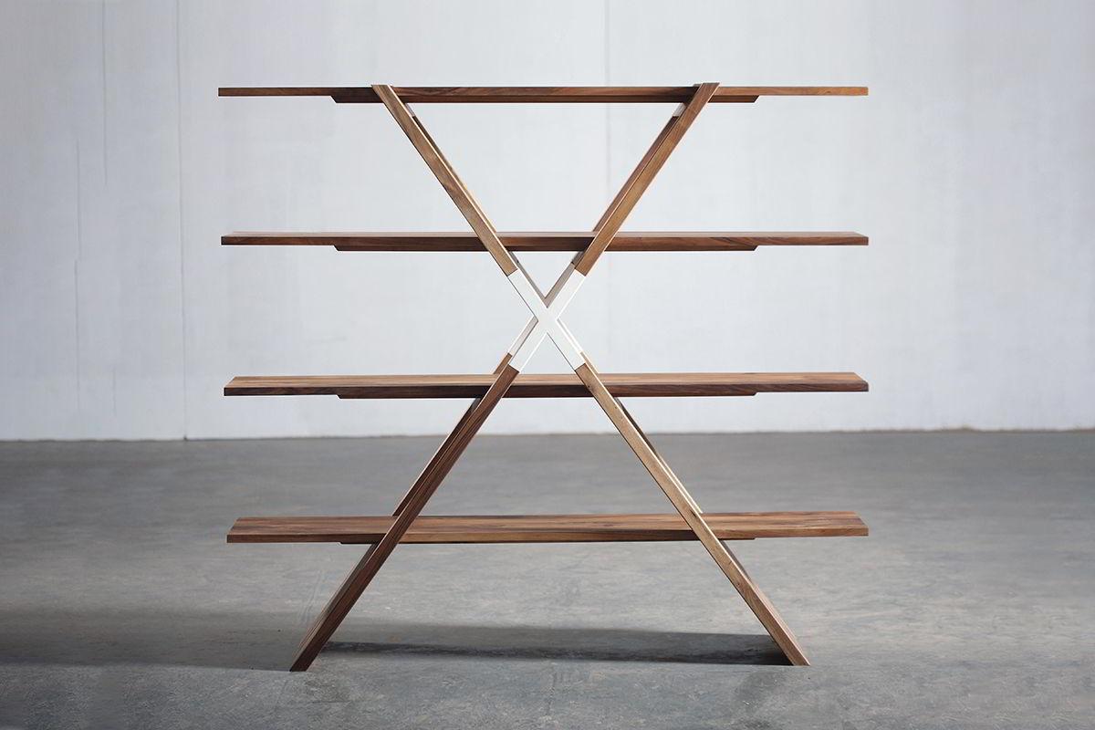 kệ gỗ hình chữ X lớn