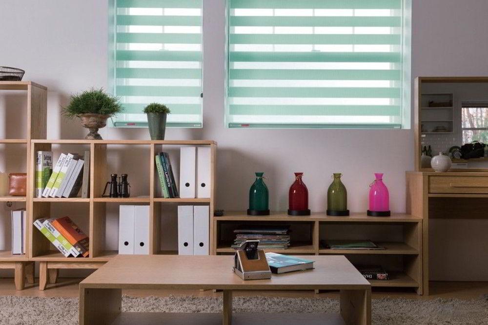 Kệ gỗ trang trí phòng khách hình ô vuông