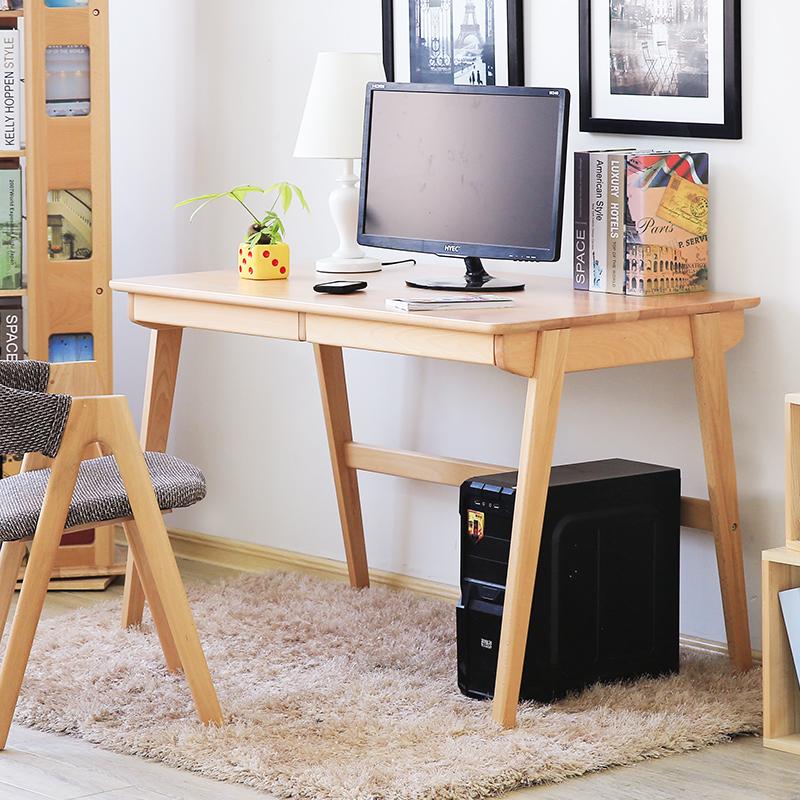 bàn làm việc màu gỗ hiện đại