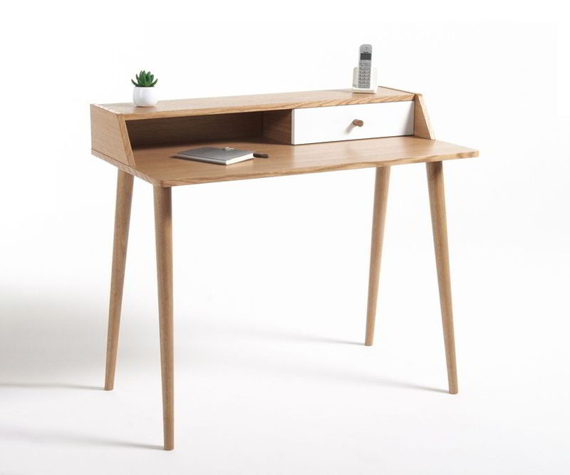 bàn làm việc đơn giản bằng gỗ tự nhiên