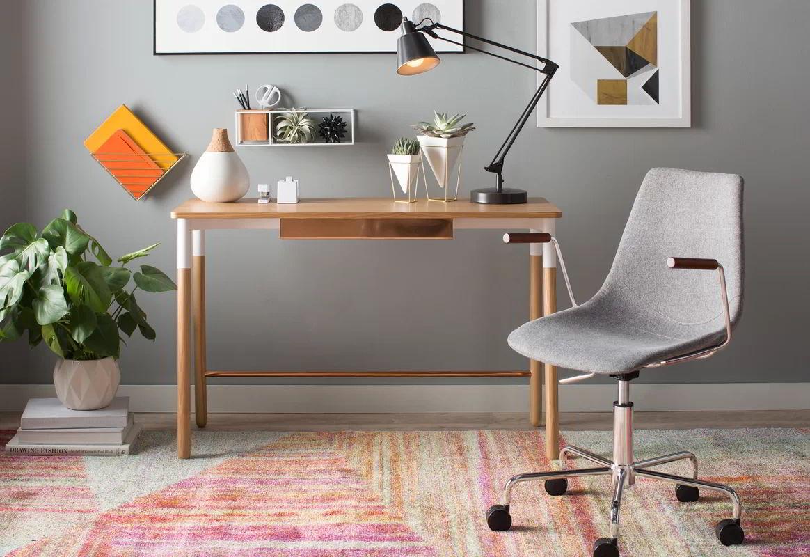 bàn làm việc màu gỗhiện đại 2