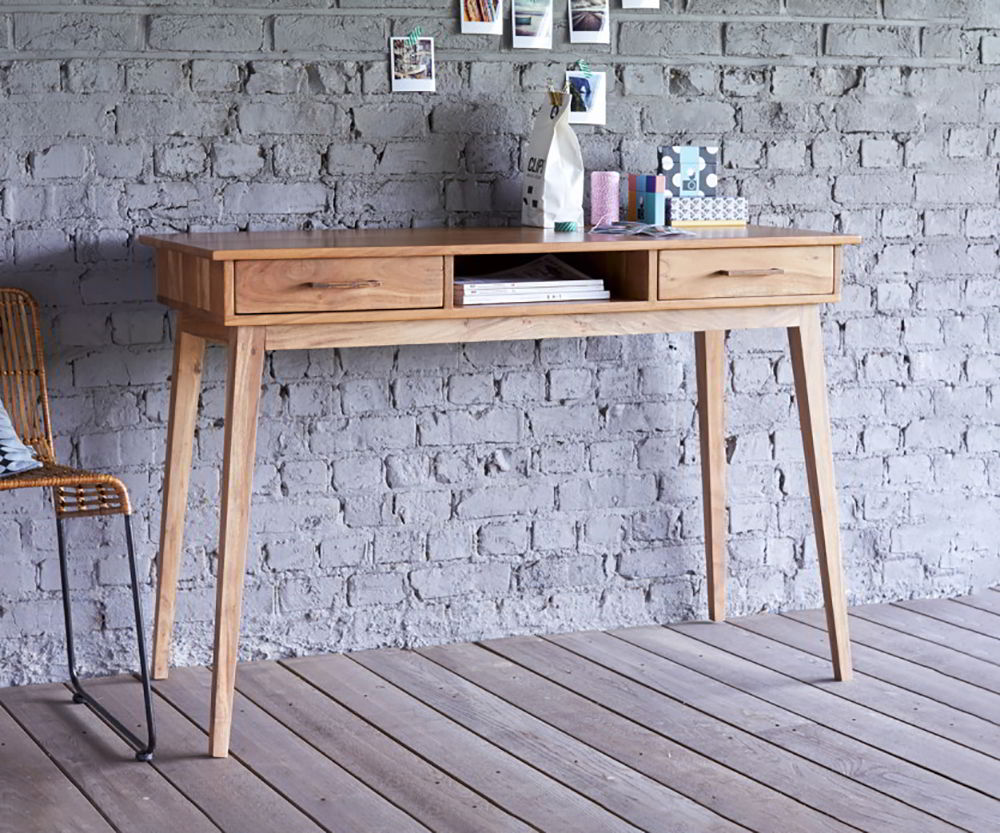 bàn làm việc gỗ tự nhiên phong cách cá nhân