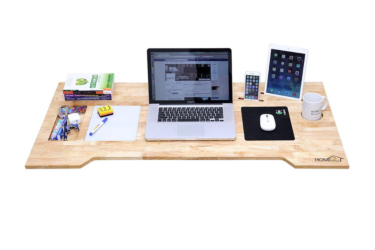 mặt bàn máy tính hiện đại bằng gỗ
