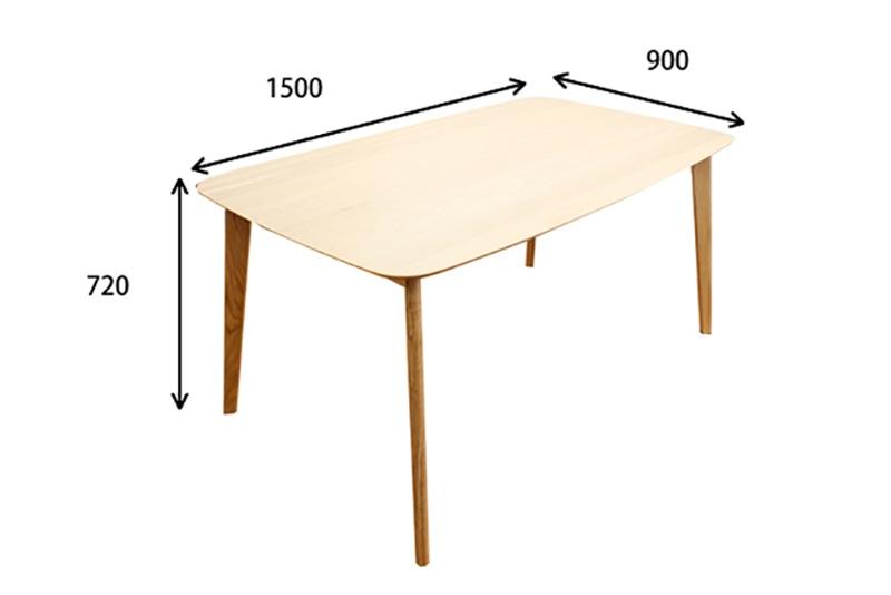 Kích thước bàn ăn tiêu chuẩn 4 người ngồi