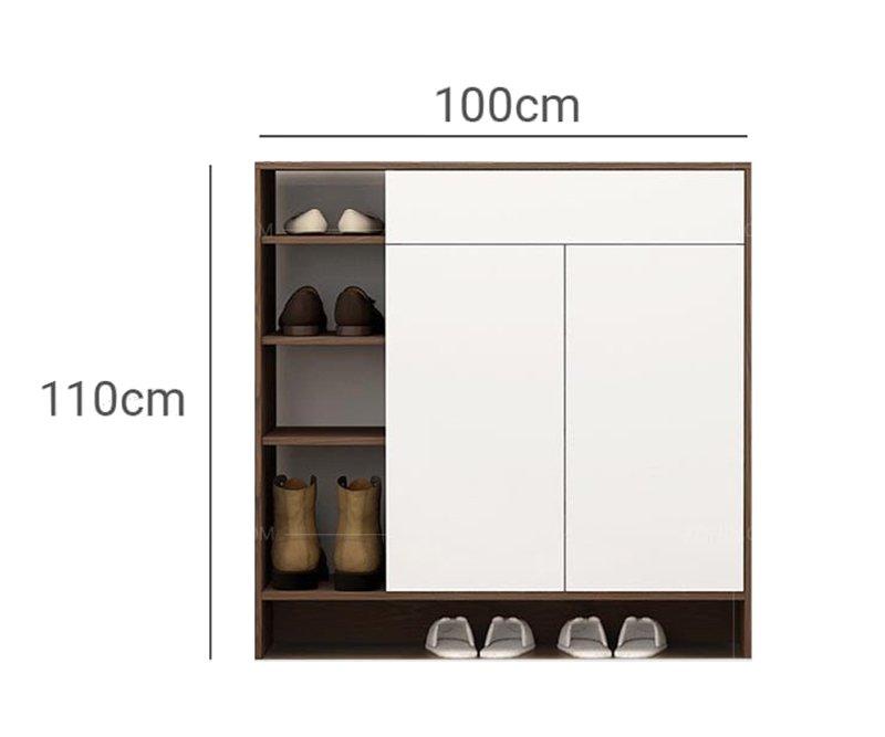 bản vẽ kích thước tủ giày đơn giản
