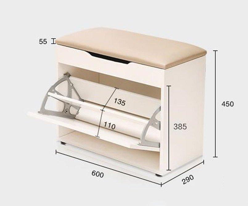 bản vẽ kích thước tủ giày nhỏ gọn