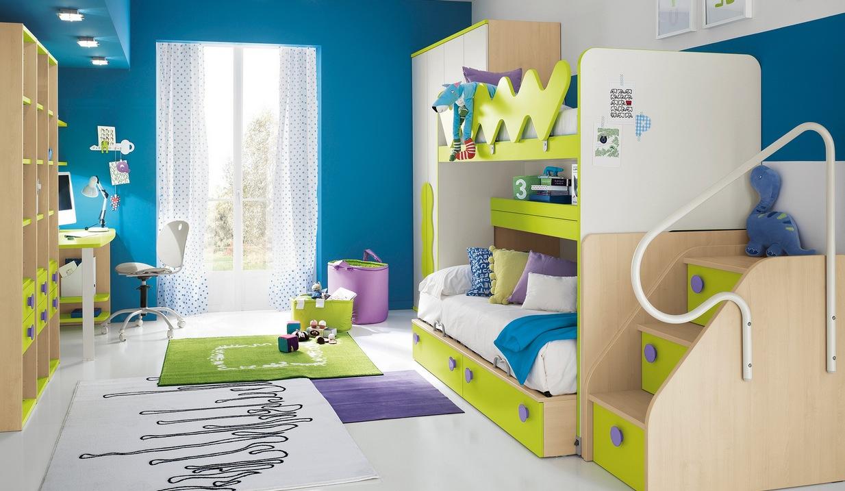 mẫu thiết kế nội thất phòng trẻ em màu xanh sang trọng, hiện đại cho năm 2017