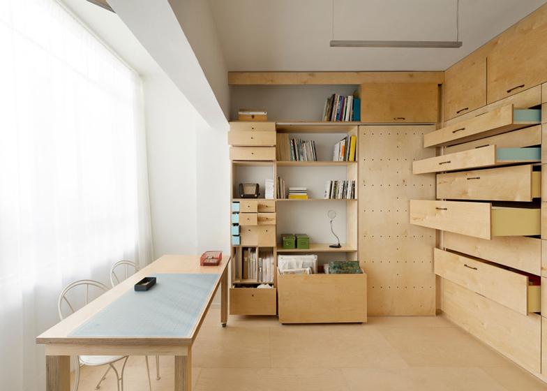 thiết kế bàn làm việc không gian nhỏ gọn