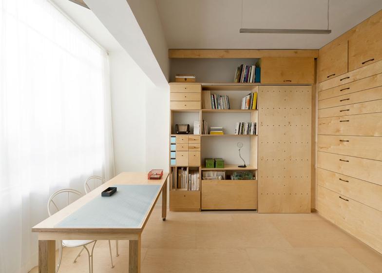 thiết kế phòng làm việc với không gian nhỏ gon