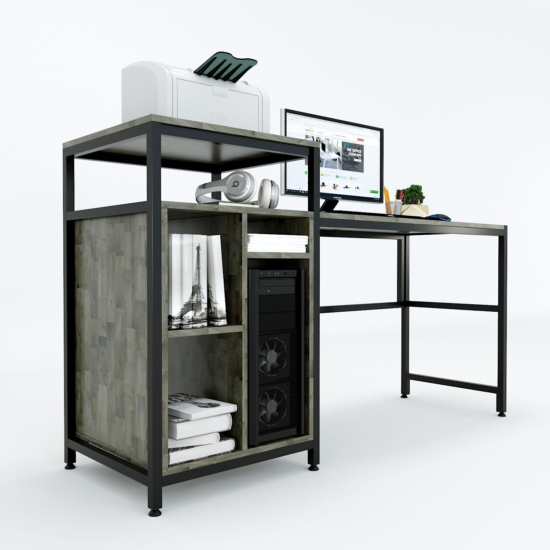 Bàn máy vi tính thùng CUP kết hợp kệ máy in