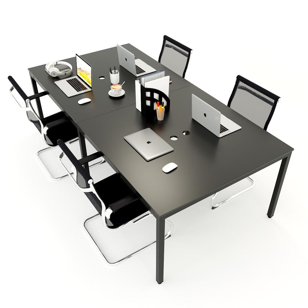 Cụm bàn 4 người ngồi chân sắt mặt gỗ cao su