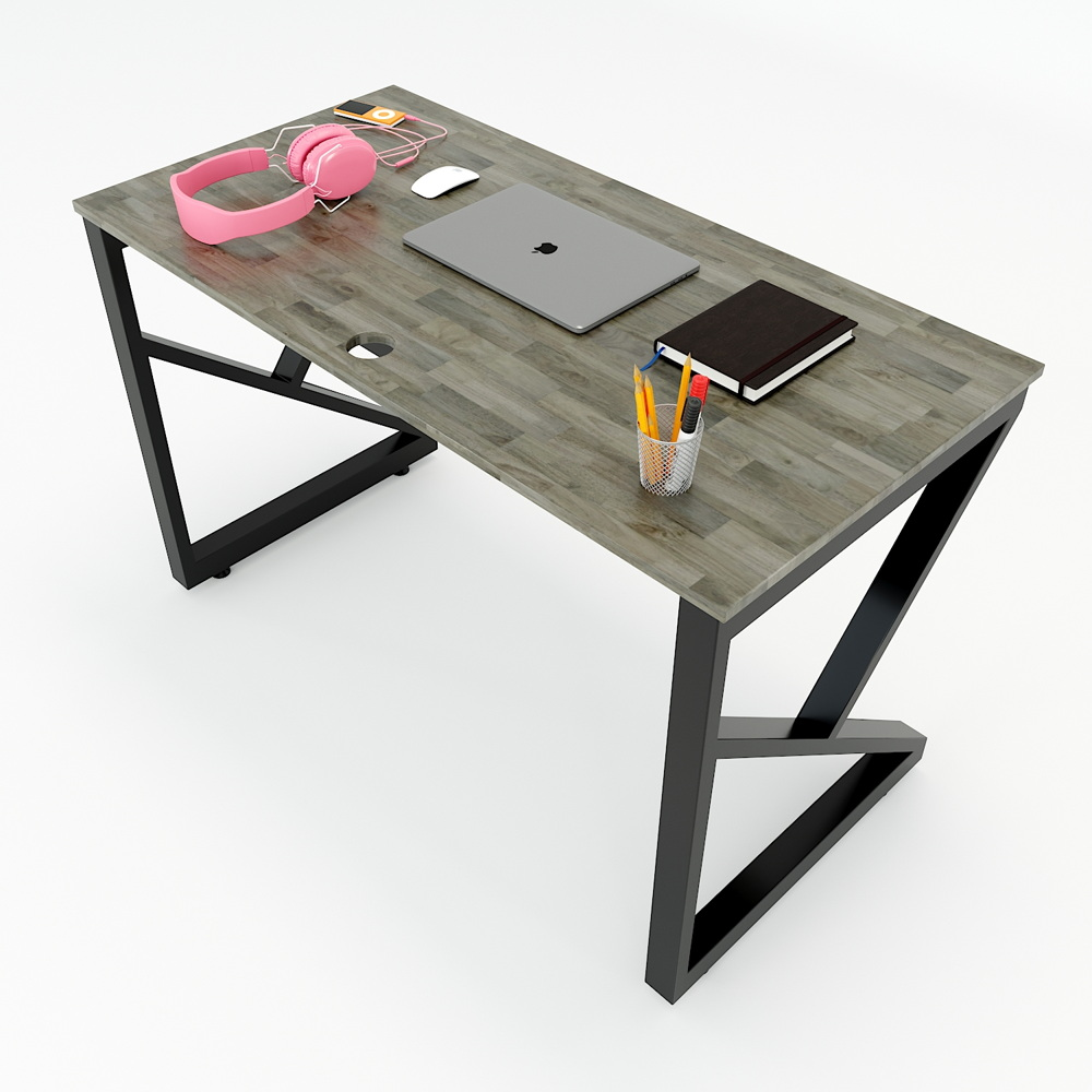 Bàn làm việc đơn giản chân sắt chữ K kích thước 60x120cm