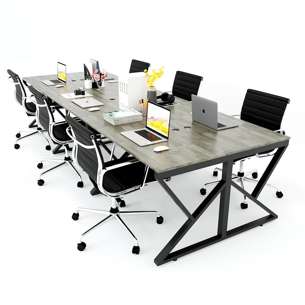 Cụm bàn 6 chỗ ngồi chân sắt chữ K