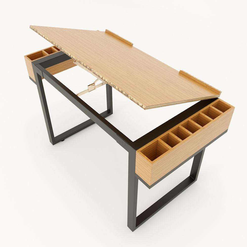 Bàn vẽ kỹ thuật mặt nâng hạ độ nghiêng gỗ tre siêu cứng