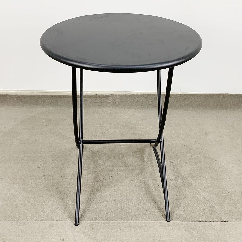 Bàn cafe tròn 60cm hoàn toàn bằng sắt sơn tĩnh điện đen