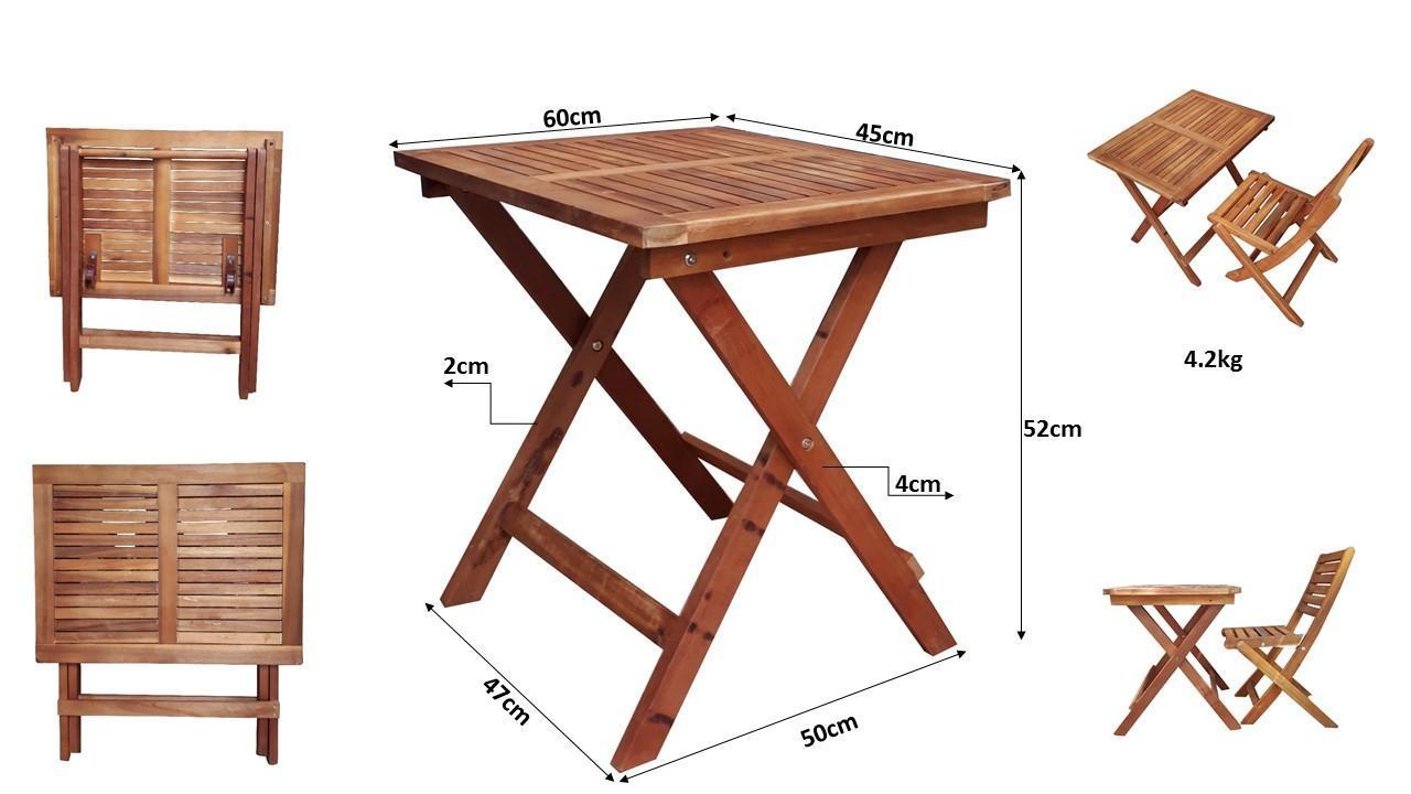 Bàn cafe xếp gọn chân gỗ