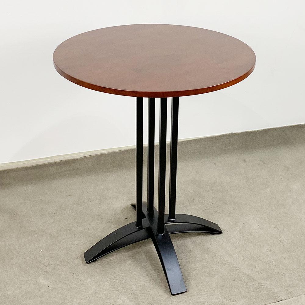 Bàn Cafe chân sắt 4 trụ mặt tròn