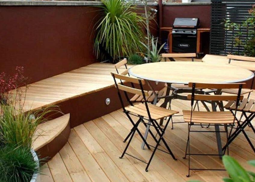 Bộ bàn ghế cafe trên sân thượng