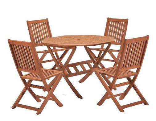 Bộ bàn ghế cafe gỗ gấp gọn