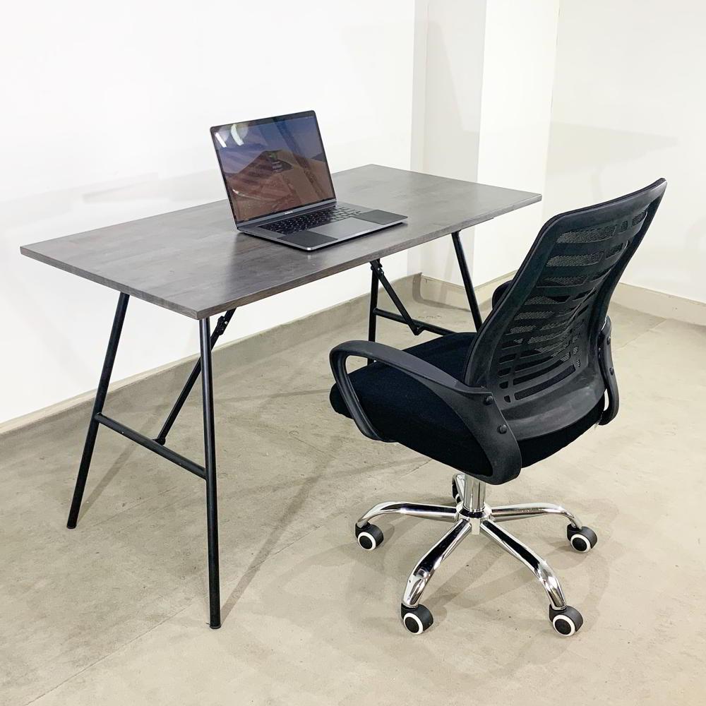 Bàn học chân gấp kết hợp với ghế xoay văn phòng