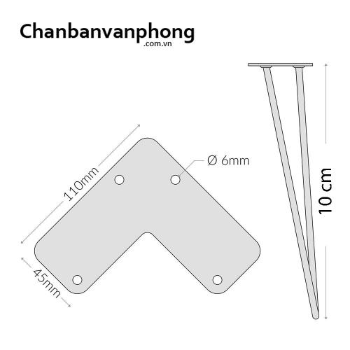 Cơ cấu chân bàn sắt hairpin