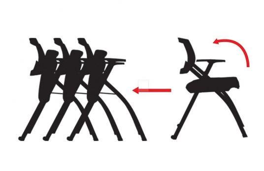 Cách xếp của ghế xếp văn phòng