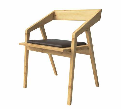 Ghế Cafe gỗ cao su có nệm ngồi