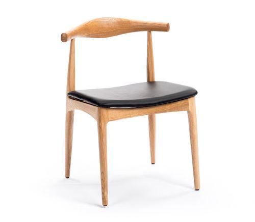 Ghế Cafe gỗ cao su nệm da