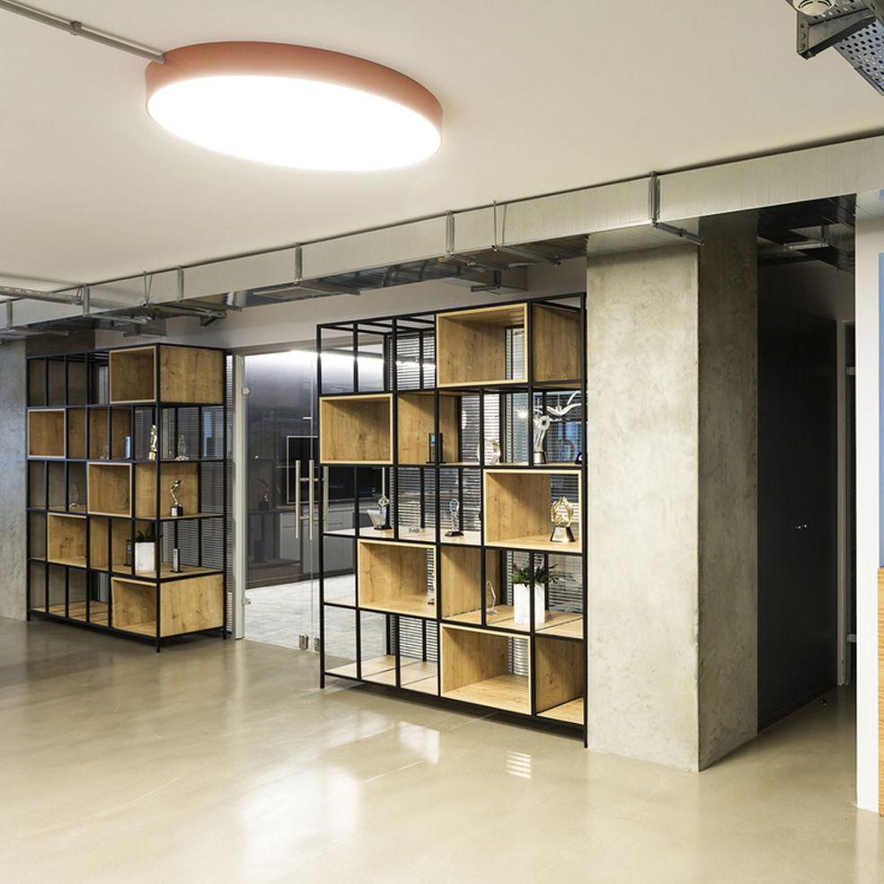 Kệ sách văn phòng ô vuông khung sắt